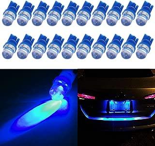 License Plate Lights,cciyu Ultra Blue T10 194 168 921 Diode LED Wedge Bulbs,20 Pack