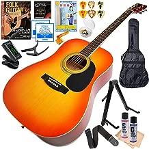 アコースティックギター 初心者セット ハニービー W15 CS チェリーサンバースト (ギター 初心者 入門 16点 セット)