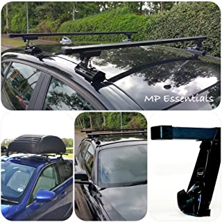 Long Van Demon Matte Black Aluminium Roof Rails Bars Pair for Mercedes Citan VY57130
