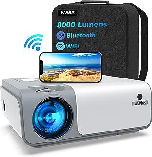 Proiettore WiMiUS WiFi Bluetooth 5G, Proiettore 8000 Lumen Full HD Nativo 1080P Supporto 4K 4D, Proiettore per Telefono Co...
