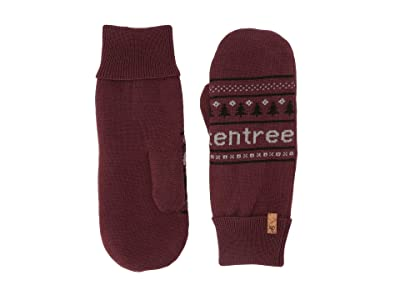 tentree Purcell Mittens (Red Mahogany) Over-Mits Gloves