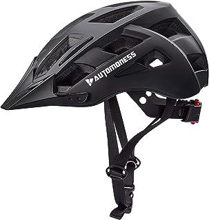 Automoness Casco Bicicleta con Luz LED,Casco Bici con CE Certifiacdo,Ajustable Deporte Cascos Bici Bicicleta Camino Mounta...
