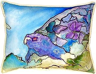 "Betsy Drake SN960 Purple Turtle Pillow, 11"" x14"""