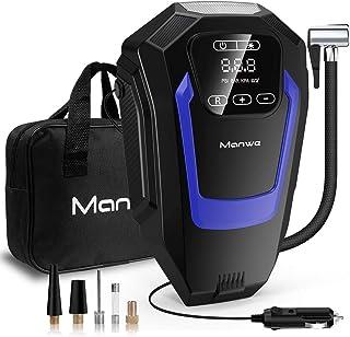 Manwe Compresseur d'Air Portatif(Écran Tactile),Electrique Compresseur Voiture d'air Digital,12V 150PSI Auto Gonfleur Pneu...