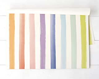 Hester & Cook Paper Placemat, Pad of 24 - Sorbet Painted Stripe