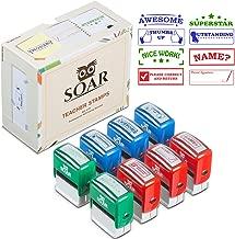 Teacher Stamp Set Colorful Self-Inking Stamps for School Classroom Homeschool Grading & Homework, Motivation, Recognition, Encouragement, Classroom Organization, Classroom Supplies, Teacher Gift