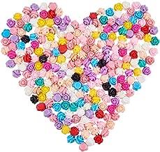 9/x 7/mm Mixed Color NBEADS 1000/pcs opaco Perlas de resina agujero: 1/mm Rosa Flor
