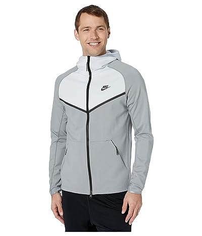 Nike NSW Hoodie Full Zip Ponte (Particle Grey/Spruce Aura/Black) Men