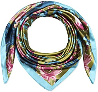 Corciova Large Square Satin Silk Like Lightweight Scarfs Hair Sleeping Wraps for Women