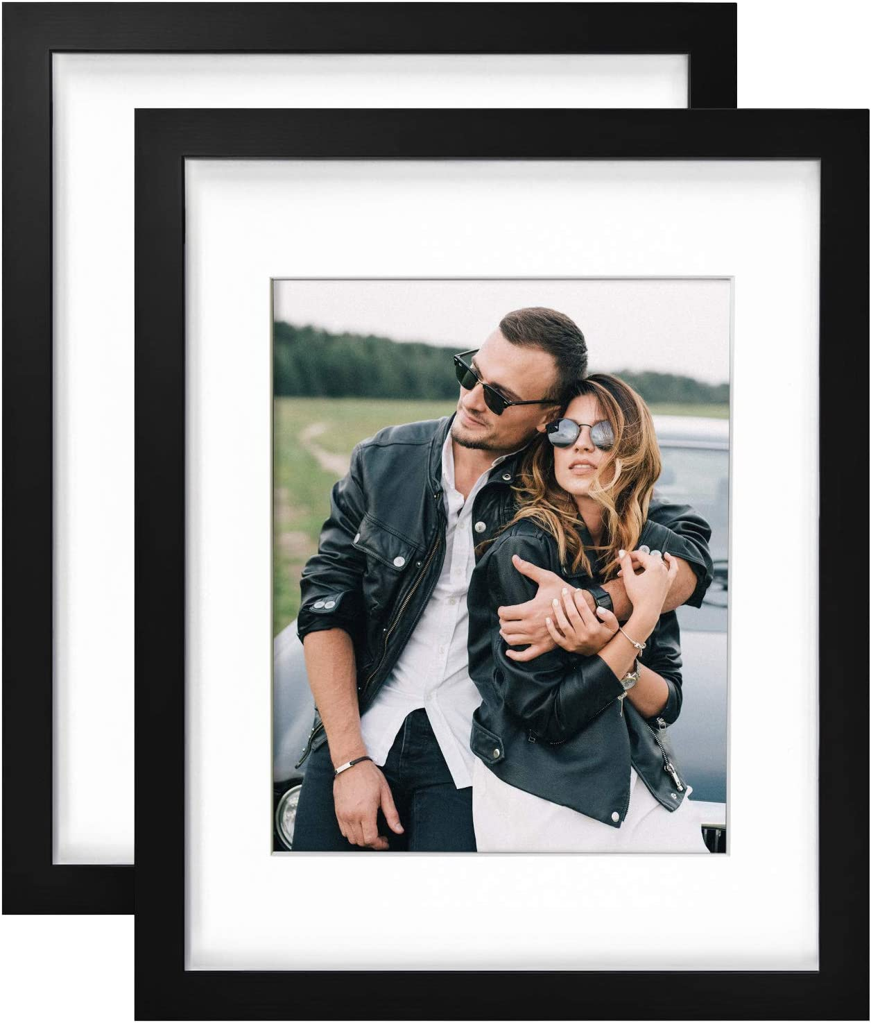 Yome 11x14 Picture Frame for New color Photos or Spring new work Mat 8x10 witho with