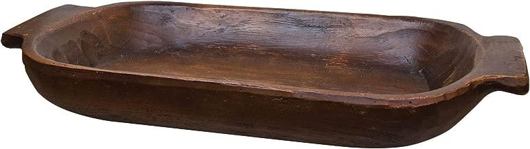 C&W Treenware Decorative Dough Bowl - Primitive Country Rustic Home Decor