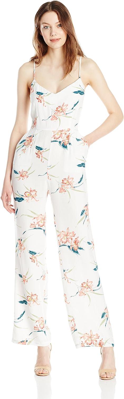 BB Dakota Womens Tara Floral Print Crepe Jumpsuit Jumpsuit