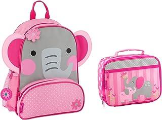 Stephen Joseph Girls Sidekick Elephant Backpack and Lunch Box