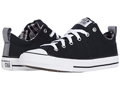 Converse Kids Chuck Taylor(r) All Star(r) Madison Ox (Little Kid/Big Kid) (Black/White/Pink Glaze) Girl