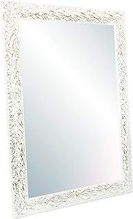Chely Intermarket Espejo de Pared Cuerpo Entero 40x60cm(46x66cm)Blanco y plateadoMod-131 Aptos para peluquerías salón...