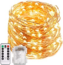 ECOWHO LED String Lights, 66ft 200 LED Waterproof Starry Fairy Lights, 8 Lighting Modes, Battery Powered Decorative Lights...