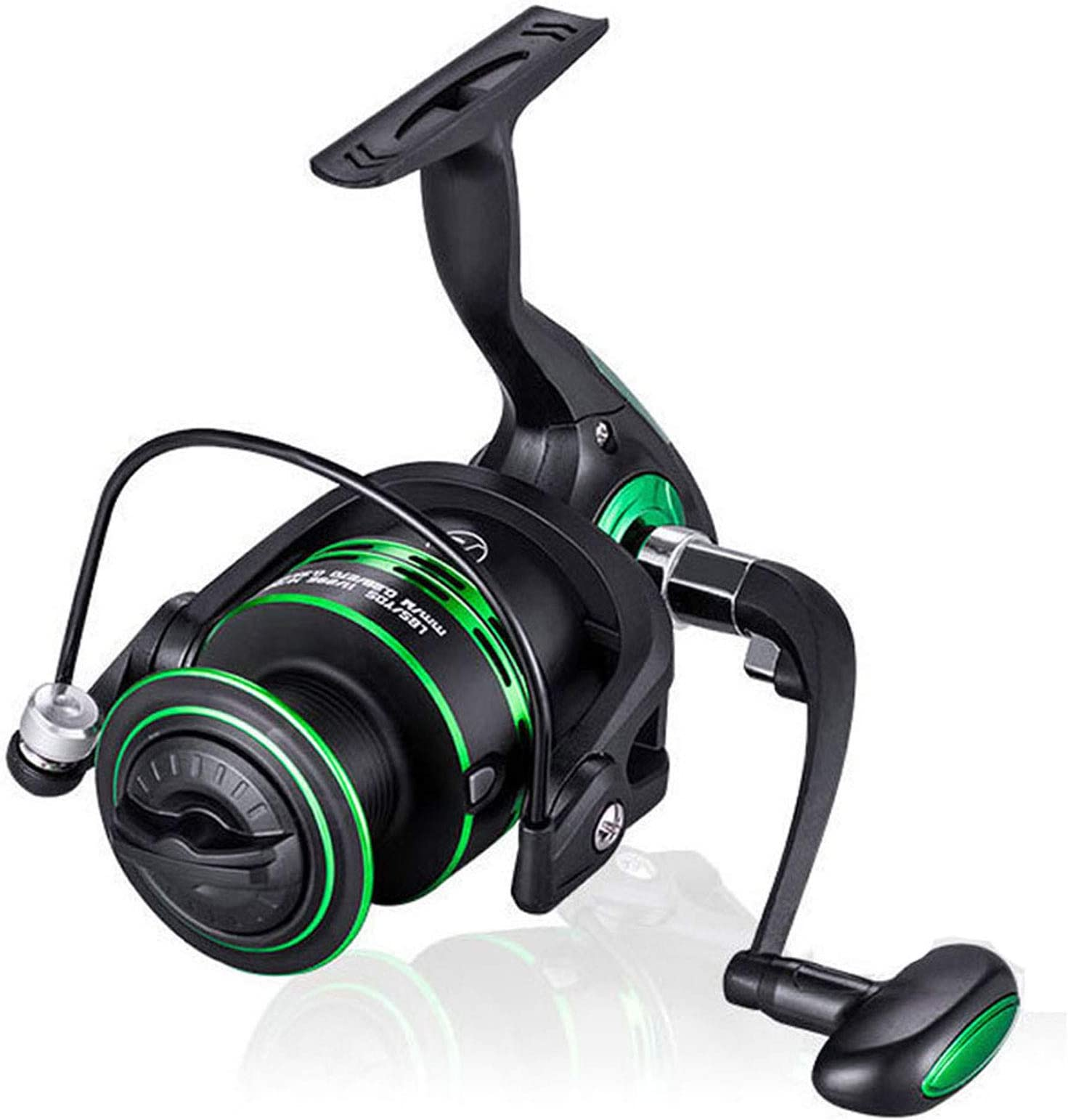 Metal Fishing Reel 5+1BB Lightweight Smooth Spinning Reels Left//Right Hand