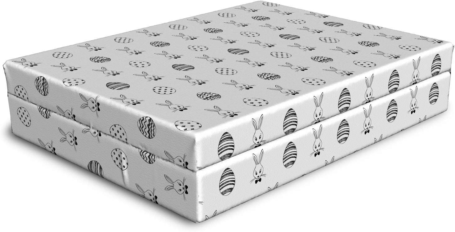 Ambesonne Easter Dog Courier shipping free shipping Bed Black and Sty White Drawn Hand Pattern Fashionable