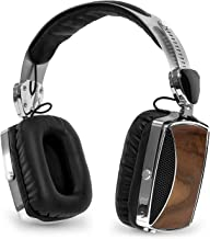 Victrol Wood and Chrome Rechargeable Bluetooth Headphones