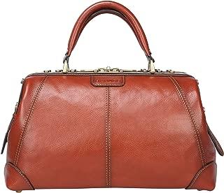 Vintage Full Grains Italian Leather Doctor Bag for Women Men Briefcase Business Handbag 1-2days Travel Bag Medical Purse