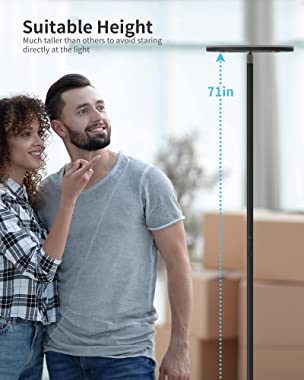 Floor Lamp, Nekteck Led Floor Lamps for Living Rooms, Bedrooms and Office, Torchiere Standing Pole Lamp with Modern Design an