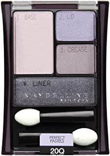 Maybelline New York Expert Wear Eyeshadow Quads, 20q Velvet Crush Perfect Pastels, 0.17 Ounce