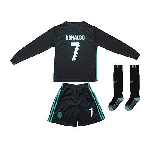 d50a32278a2 FCRM 2018/2019 New #7 Cristiano Ronaldo Kids Away Long Sleeve Soccer Jersey  &