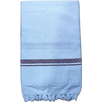 Lafabriqueind Cotton Handloom Fabric Gamcha (Large, White)