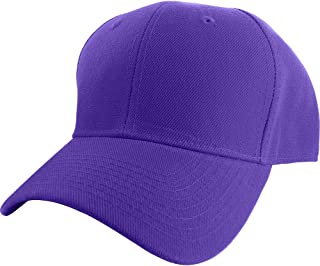 Plain Fitted Sized Curved Visor Baseball Cap (15+ Colors 9 Sizes)