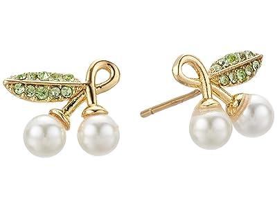 Kate Spade New York Cherie Cherry Studs Earrings (Cream Multi) Earring