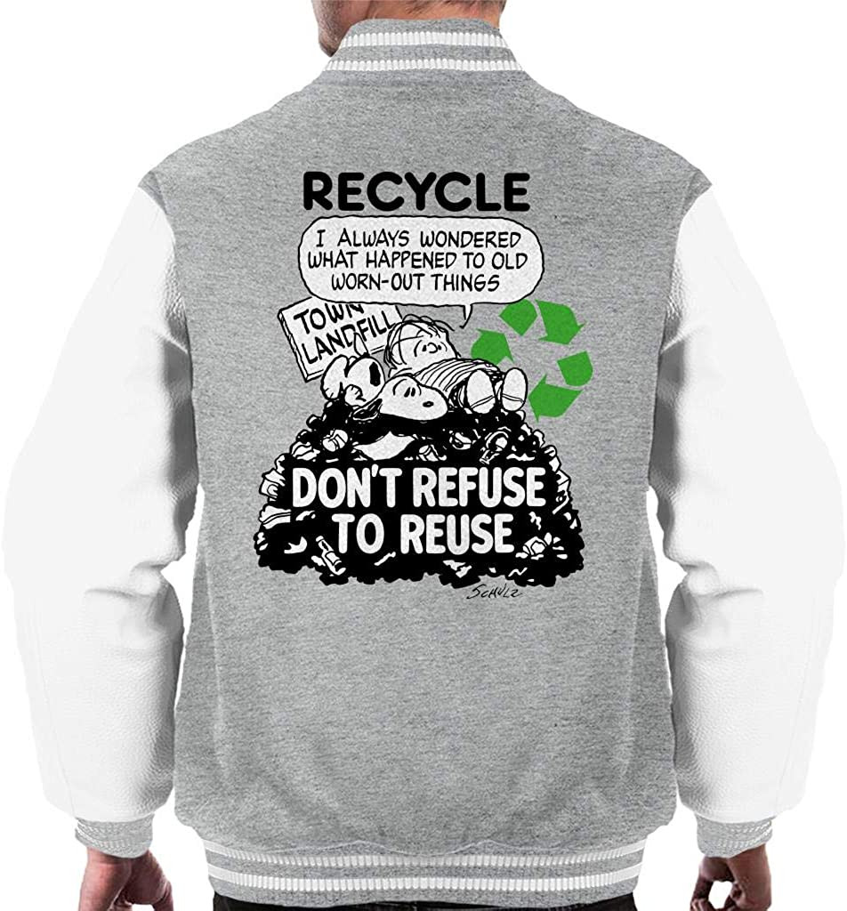Peanuts Snoopy Dont Refuse Free shipping New to Reuse Jacket Large-scale sale Varsity Men's