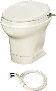 Thetford Parchment Aqua-Magic V RV Toilet Flush-High Profile Color-Hand Sprayer 31676
