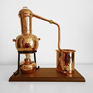 Traditional Copper Still 0.7L with Wooden Base