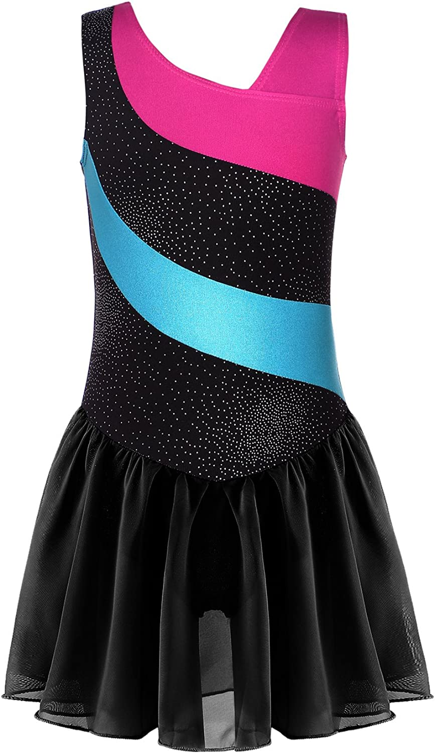 Leotard for Girls Gymnastics Camisole Tank Dance Clothes Shiny Pretty