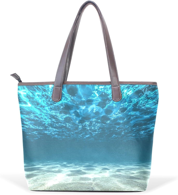 COOSUN Ozean-Boden-und Ozean-Boden-und Ozean-Boden-und Oberflächen große Tote PU-Leder-Handgriff-Schulter-Beutel-Taschen-Tasche L (33x45x13) cm muticolour B07CJ5ZS15  Großhandel 585e1a