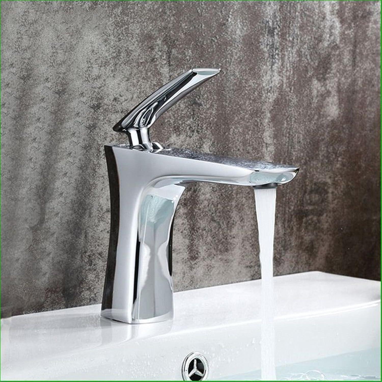 AQMMi Basin Taps Bathroom Sink Faucet Brass Chrome Hot and Cold Water Bathroom Sink Faucet Basin Mixer Tap