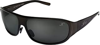 Xezo Incognito All Titanium Wrap around Polarized Black Lens Sunglasses. Coffee Metallic Finish. Fishing, Driving, Golf, Cycling