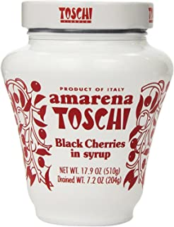 Amarena Toschi Italian Black Cherries in Syrup 17.9 Oz.