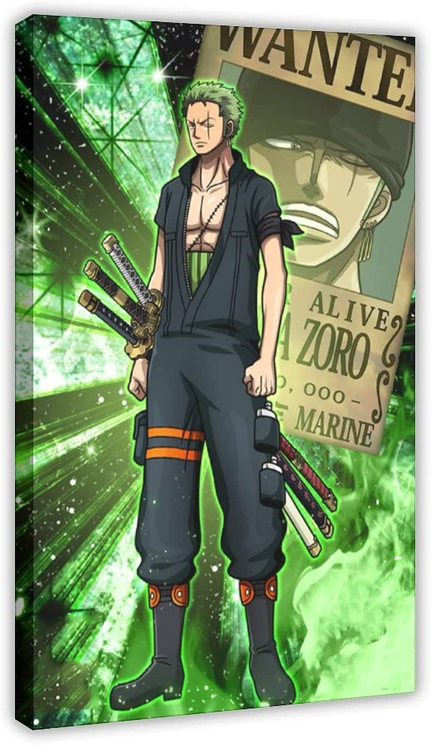 Anime One Piece price Zoro 31 Canvas Decor Print Wall Poster Quality inspection Art Pictu