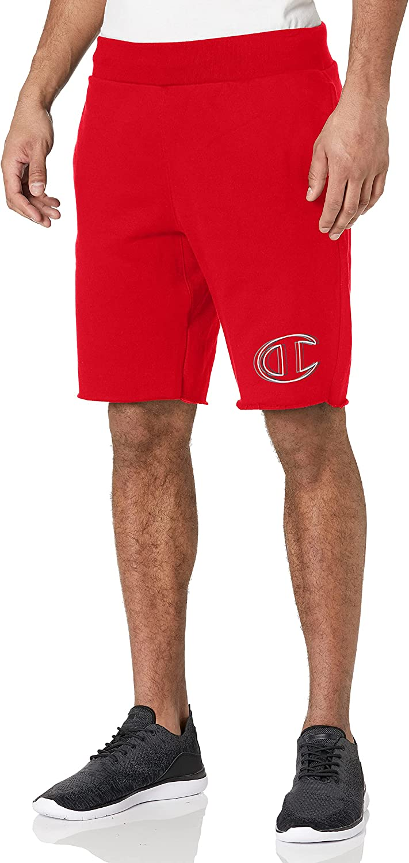 Champion Men's 10 Inch Reverse Weave Logo Big Regular dealer Shorts C Cut-Off ! Super beauty product restock quality top!