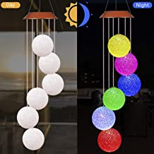 xxschy LED Solar Crystal Ball Wind Chimes Outdoor-Waterproof Solar Powered LED Changing Light Color Six Crystal Balls Mobile Romantic Wind-bell For Home, Party, Festival Decor, Night Garden Decoration