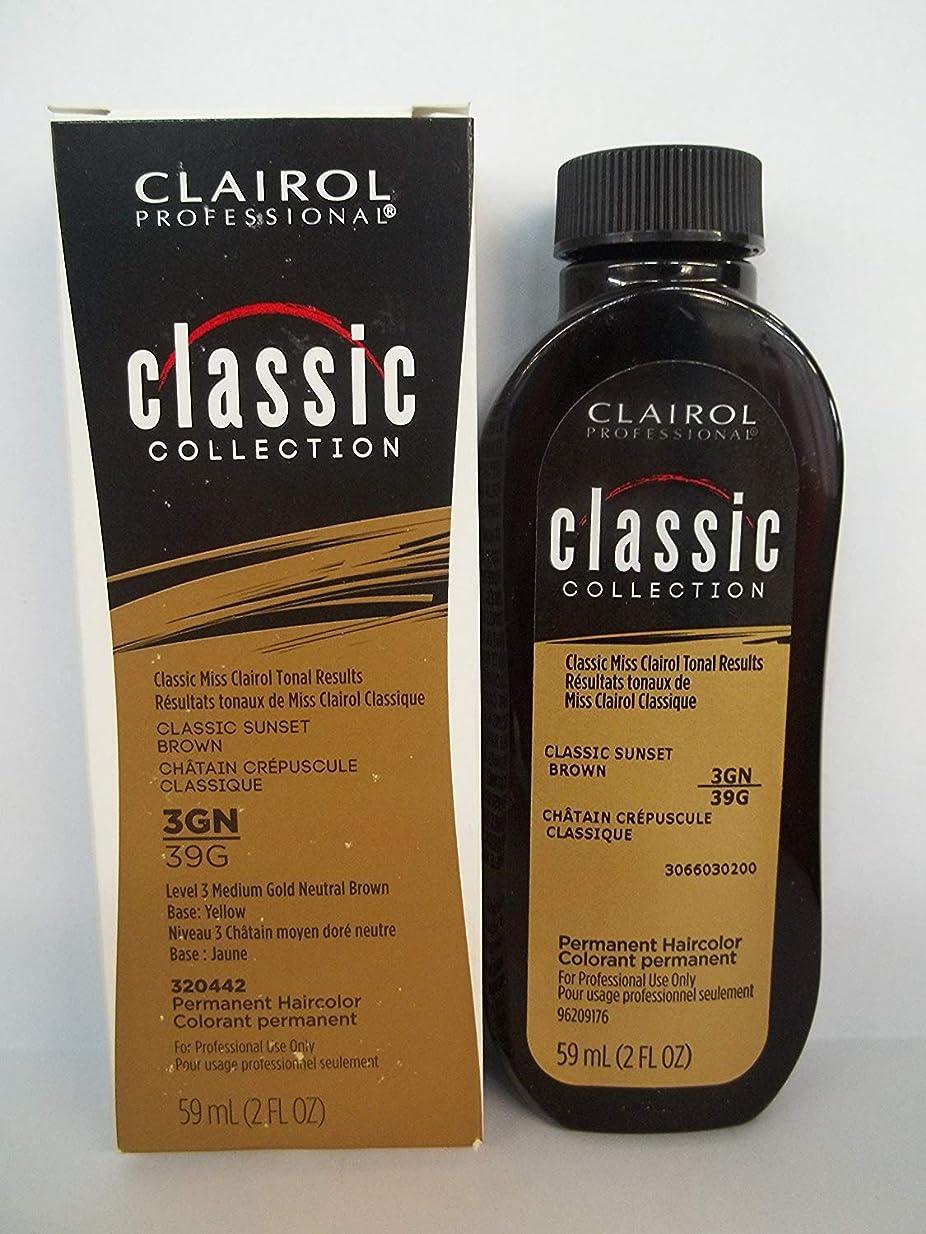 提唱する抹消アレルギーClairol プロクラシックコレクション3GN / 39Gサンセットブラウン2オンス 2フロリダ。オズ。クレイロールクラシックコレクションのボトル 3gn / 39g - クラシックサンセットブラウン