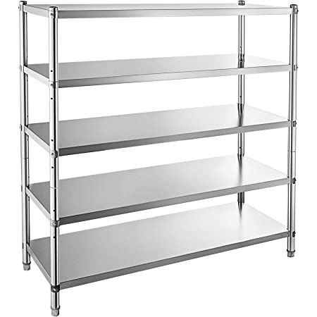 4 Tier Stainless Steel Shelving Units Storage Shelf Kitchen Commercial 1800LB