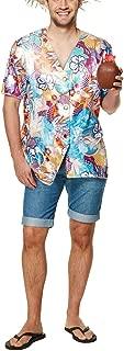 Adults Beach Party Wear Hawaiian Printed Shirt Mens Fancy Hen Night Party Wear Novelty Shirt T Shirt Fancy Dress Outfit