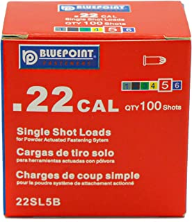 Level 6 for Heavy Duty Powder Actuated Fastening Tools 100 - Count BLUEPOINT .27 Cal PURPLE//BLACK Powder Load ENHANCED Strip Item# 27ES11L6.