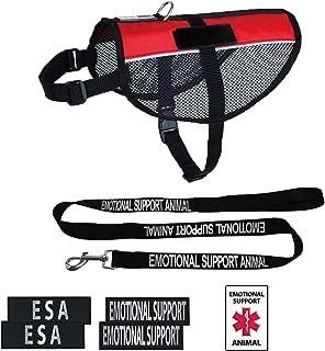 Dogline Emotional Support Dog Vest Set Adjustable Service Dog Vest Harness Reflective Emotional Support & ESA Patches with...