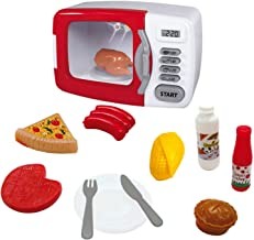 Mikrowelle mit Licht u Ton Kinderk/üche Haushalt Eddy Toys Eletrische Kindermikrowelle