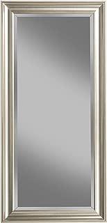 Sandberg Furniture Champagne Silver Full Length Leaner Mirror,