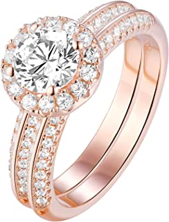 Best rose gold engagement and wedding ring sets Reviews