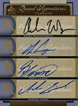 Asher Wojciechowski, David Cooper, Brett Lawrie & Andrew Liebel Autographed 2012 UpperDeck Quad Signature Card - MLB Autog...
